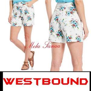 WESTBOUND Petite Park Ave Floral Shorts